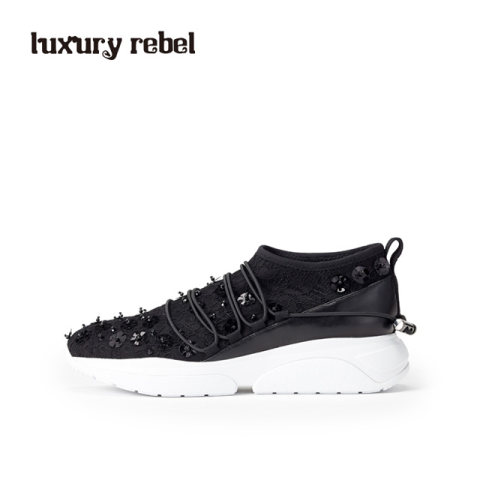 LR女鞋Luxury Rebel 夏季休闲系带女鞋尖头舒适休闲鞋板鞋