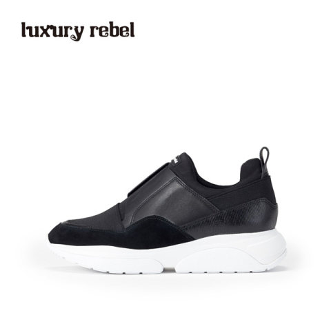 Luxury Rebel 2017春季新品神秘纯黑潮流休闲运动鞋女鞋L75160174