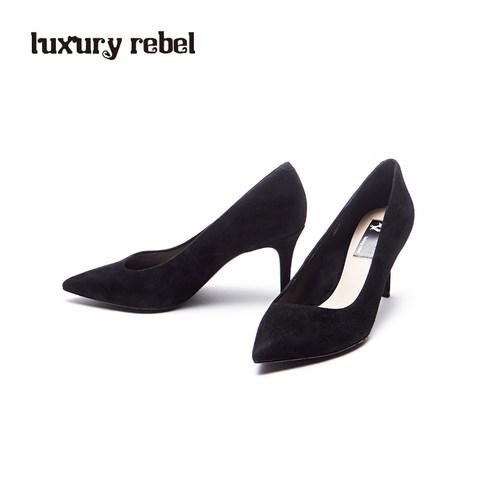 LR女鞋Luxury Rebel新款 Beauty5 OL黑色浅口细高跟单鞋