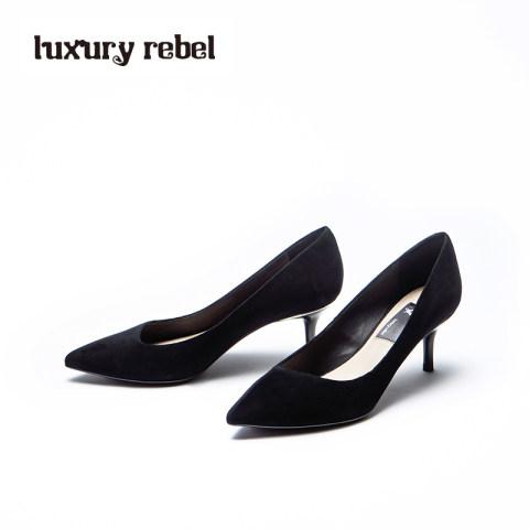 LR女鞋Luxury Rebel新款 Beauty5 OL性感黑色浅口细高跟单鞋
