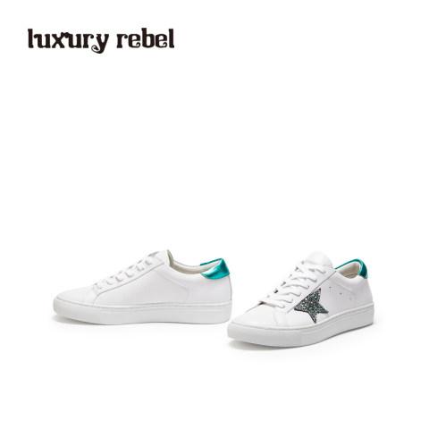 LR女鞋Luxury Rebel新品休闲平底鞋舒适运动小白鞋