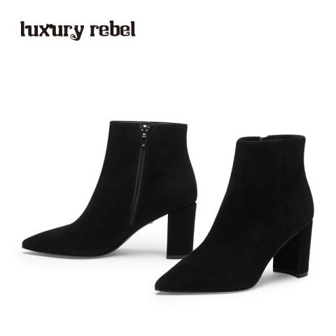 LR女靴Luxury Rebel 新款尖头短靴踝靴 单/棉靴