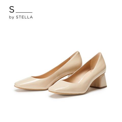 小S女鞋S By STELLA2019春季新品肉桂粉简约优雅通勤方跟高跟单鞋
